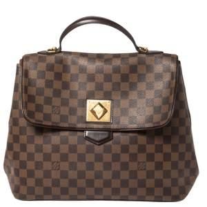 Louis Vuitton Damier Ebene Canvas Bergamo GM Bag