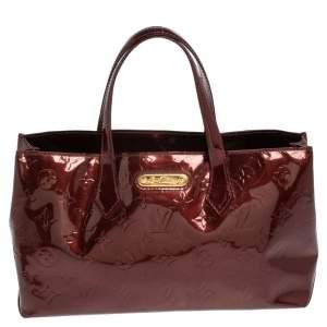 Louis Vuitton Rouge Fauviste Monogram Vernis Wilshire PM Bag