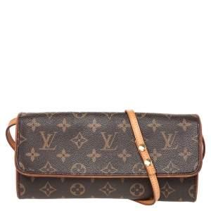 Louis Vuitton Monogram Canvas Twin Pochette GM Bag