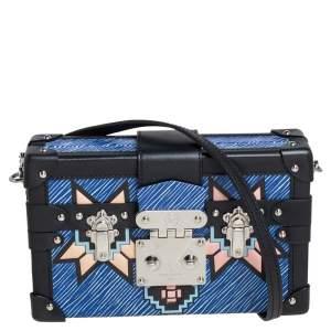 Louis Vuitton Blue Epi Leather Azteque Petite Malle Bag