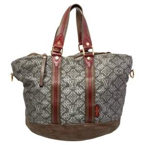 Louis Vuitton Grey Monogram Fabric and Leather Limited Edition Aviator Bag