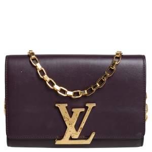 Louis Vuitton Burgundy Leather Chain Louise Bag