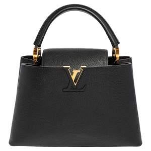 حقيبة لوي فيتون كيبوسينز جلد توريلون سوداء MM