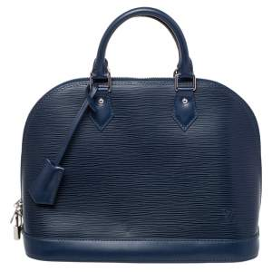 Louis Vuitton Indigo Epi Leather Alma PM Bag