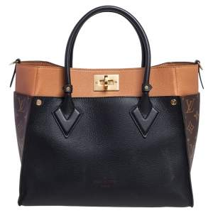 Louis Vuitton Black Monogram Canvas and Leather On My Side MM Bag