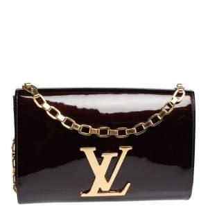 Louis Vuitton Amarante Vernis Leather Chain Louise GM Bag