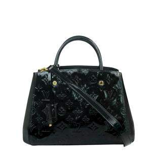 Louis Vuitton Black Patent Leather  Montaigne BB Bag