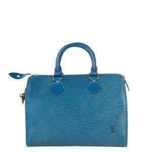 Louis Vuitton Blue Epi Leather Speedy Bag