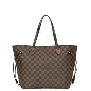 Louis Vuitton Brown Damier  Ebene Canvas Neverfull Tote Bag