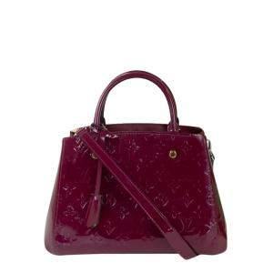 Louis Vuitton Burgundy Monogram Empreinte Leather Montaigne BB Bag