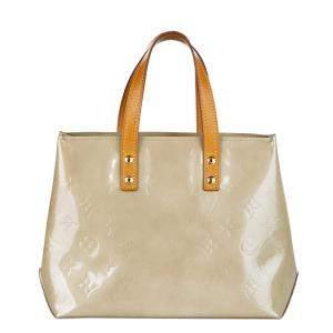 Louis Vuitton White Monogram Vernis Reade PM Bag
