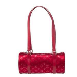 Louis Vuitton Red Mini Lin Fabric Papillon 19 Bag