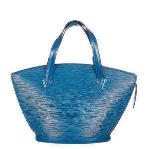Louis Vuitton Blue Epi Leather Saint Jacques PM Short Strap Bag