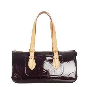 Louis Vuitton Red Vernis Leather Rosewood Avenue Shoulder Bag