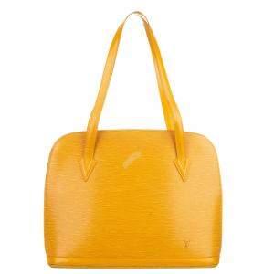 Louis Vuitton Yellow Epi Leather Lussac Bag