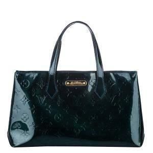 Louis Vuitton Green Monogram Vernis Wilshire PM Bag