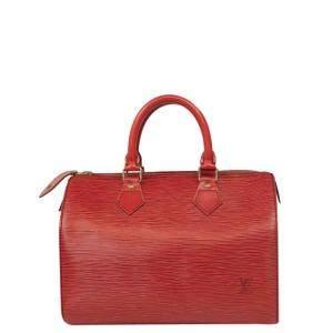 Louis Vuitton Red Epi Leather Speedy Bag