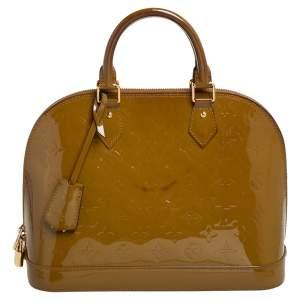 Louis Vuitton Vert Olive Monogram Vernis Alma PM Bag
