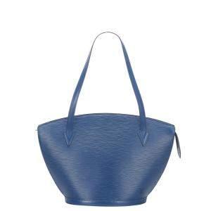 Louis Vuitton Blue Epi Leather Saint Jacques GM Long Strap Bag