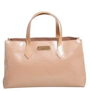 Louis Vuitton Rose Florentine Monogram Vernis Wilshire PM Bag