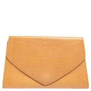 Louis Vuitton Winnipeg Sable Epi Leather Art Deco Clutch
