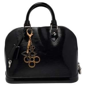 Louis Vuitton Black Electric Epi Leather Alma PM Bag