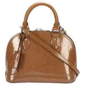 Louis Vuitton Brown Monogram Vernis Alma BB Bag