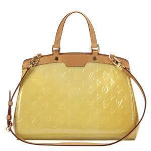 Louis Vuitton Yellow Monogram Vernis Brea MM Bag