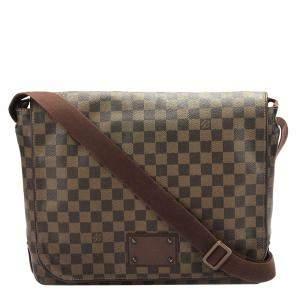 Louis Vuitton Brown Damier Ebene Canvas Brooklyn GM Bag