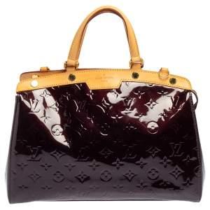 Louis Vuitton Amarante Monogram Vernis and Leather Brea MM Bag