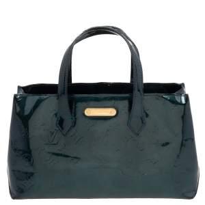 Louis Vuitton Blue Nuit Monogram Vernis Wilshire PM Bag