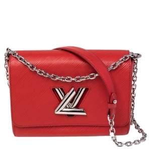 Louis Vuitton Coquelicot Epi Leather Twist MM Bag