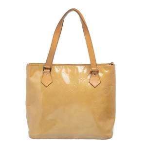 Louis Vuitton Lime Monogram Vernis Houston Bag