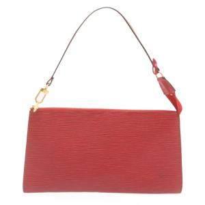Louis Vuitton Red Epi Leather Pochette Accessories Bag