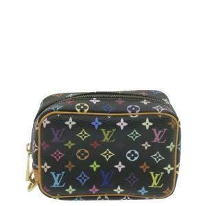 Louis Vuitton Black Monogram Multicolore Canvas Wapity Pouch