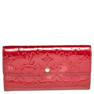Louis Vuitton Red Monogram Vernis Sarah Wallet