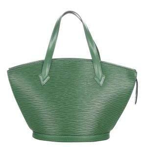 Louis Vuitton Green Epi Leather Saint Jacques PM Short Strap Bag