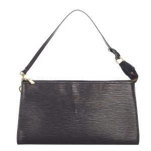 Louis Vuitton Black Epi Leather Pochette Accessoires Bag