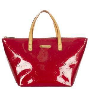 Louis Vuitton Red Monogram Vernis Bellevue PM Bag