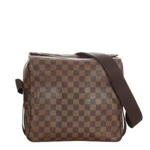 Louis Vuitton Brown Canvas Naviglio Shoulder Bag