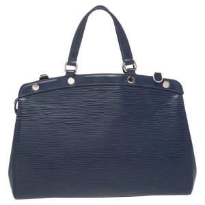 Louis Vuitton Indigo Blue Epi Leather Brea MM Bag