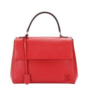Louis Vuitton Red Leather Cluny MM Shoulder Bag
