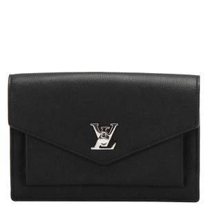 Louis Vuitton Black Calf Leather My Lock Me BB Shoulder Bag