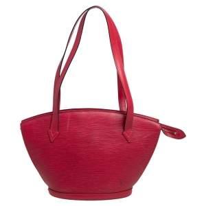 Louis Vuitton Red Epi Leather Saint Jacques PM Bag