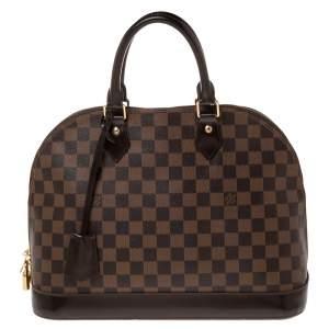 Louis Vuitton Damier Ebene Canvas Alma MM Bag