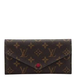 Louis Vuitton Brown Monogram Canvas Sarah Long Wallet
