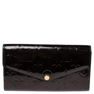 Louis Vuitton Amarante Monogram Vernis Sarah NW Wallet