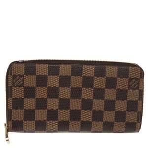 Louis Vuitton Damier Ebene Canvas Zippy Wallet