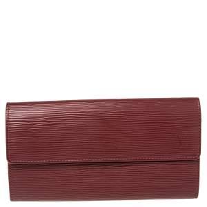 Louis Vuitton Rubis Epi Leather Sarah Wallet