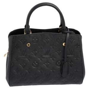 Louis Vuitton Noir Monogram Empreinte Leather Montaigne BB Bag